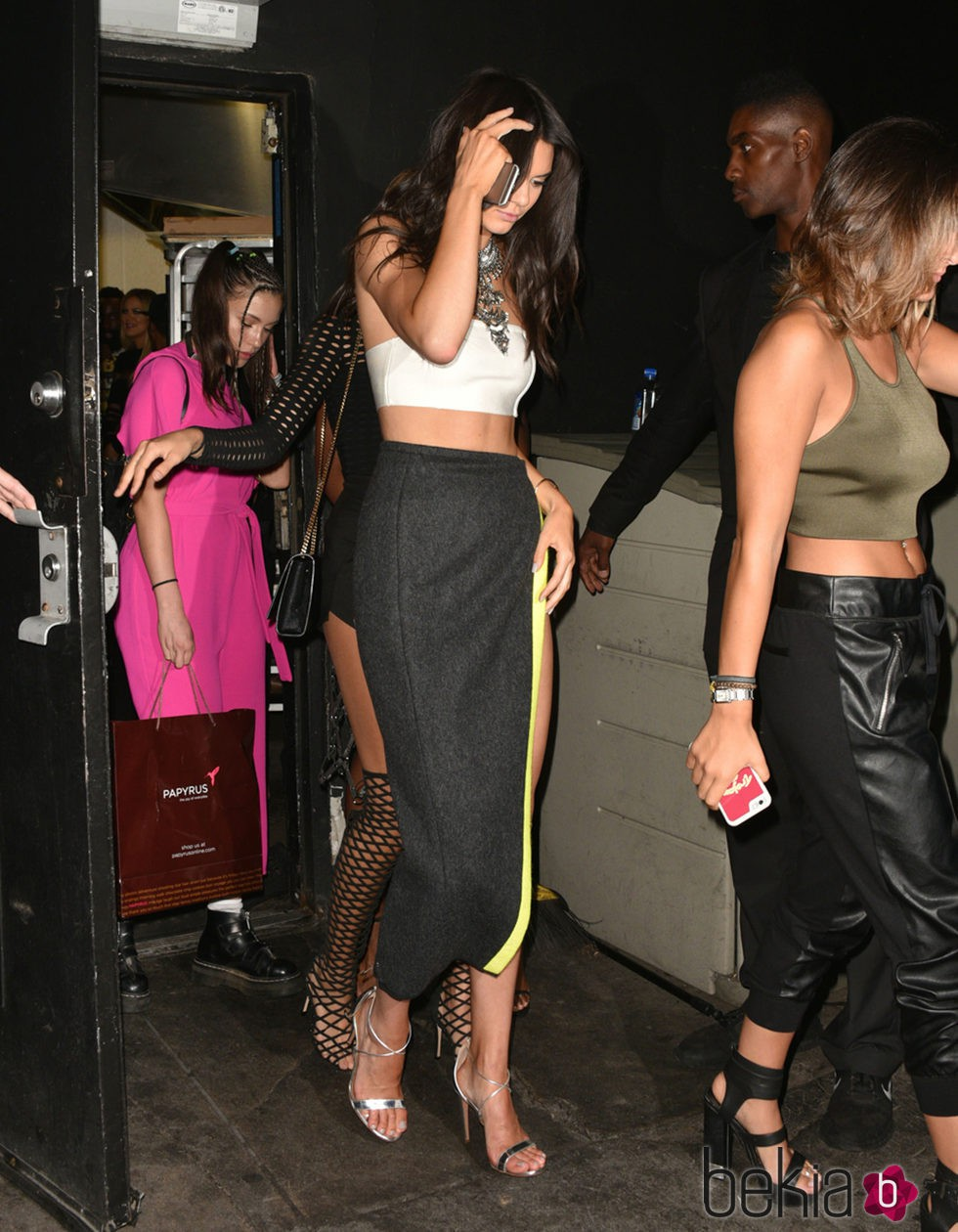 Kendall Jenner en el cumpleaños de su hermana Kylie Jenner
