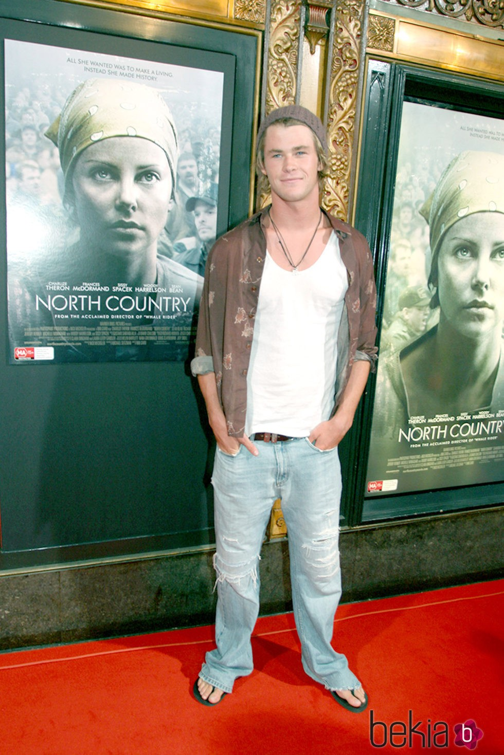Chris Hemsworth en la premiere de 'North Country' en Sidney