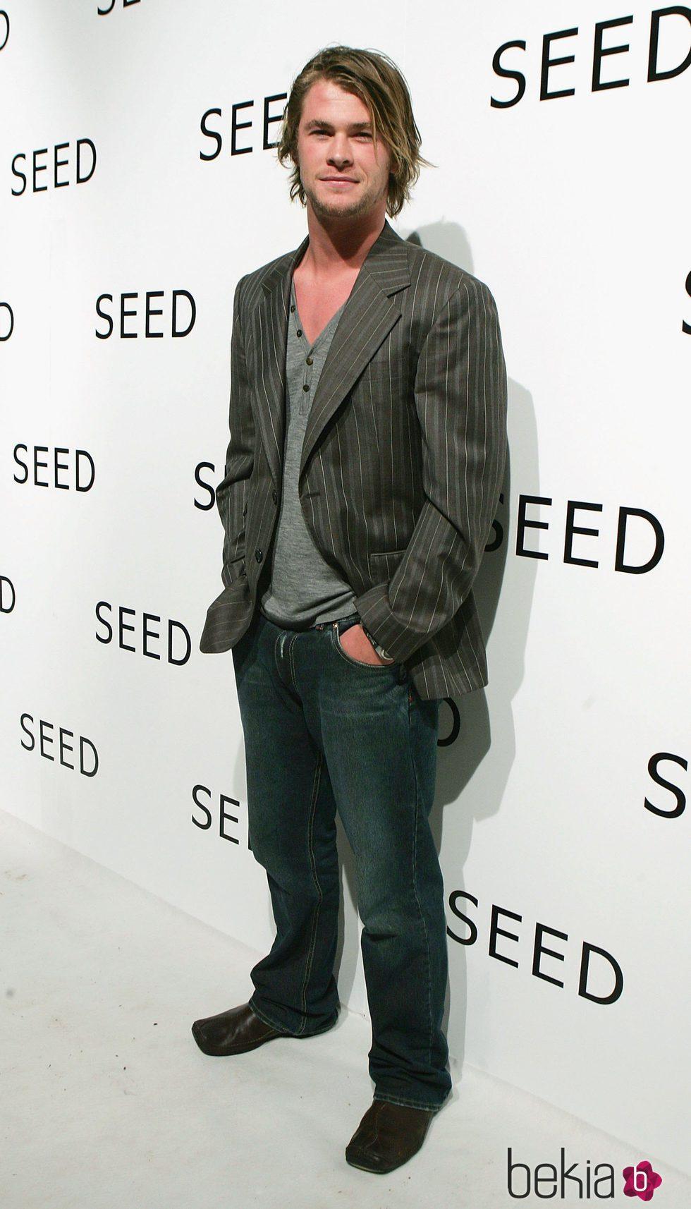 Chris Hemsworth en un acto publicitario en Sidney