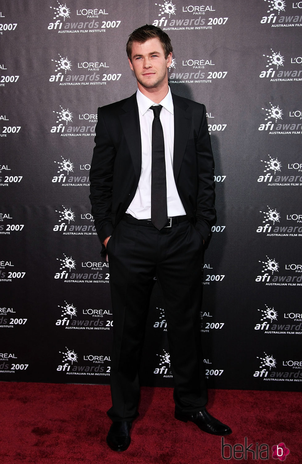 Chris Hemsworth en la entrega de los AFI Awards 2007