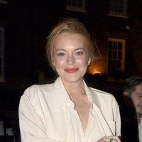 Lindsay Lohan en una salida con amigos
