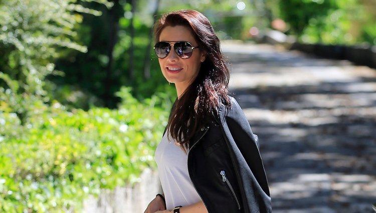 Pilar Rubio paseando por las calles de Madrid