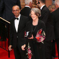Maggie Smith en un homenaje a 'Downton Abbey' en Londres