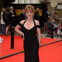 Samantha Bond en un homenaje a 'Downton Abbey' en Londres