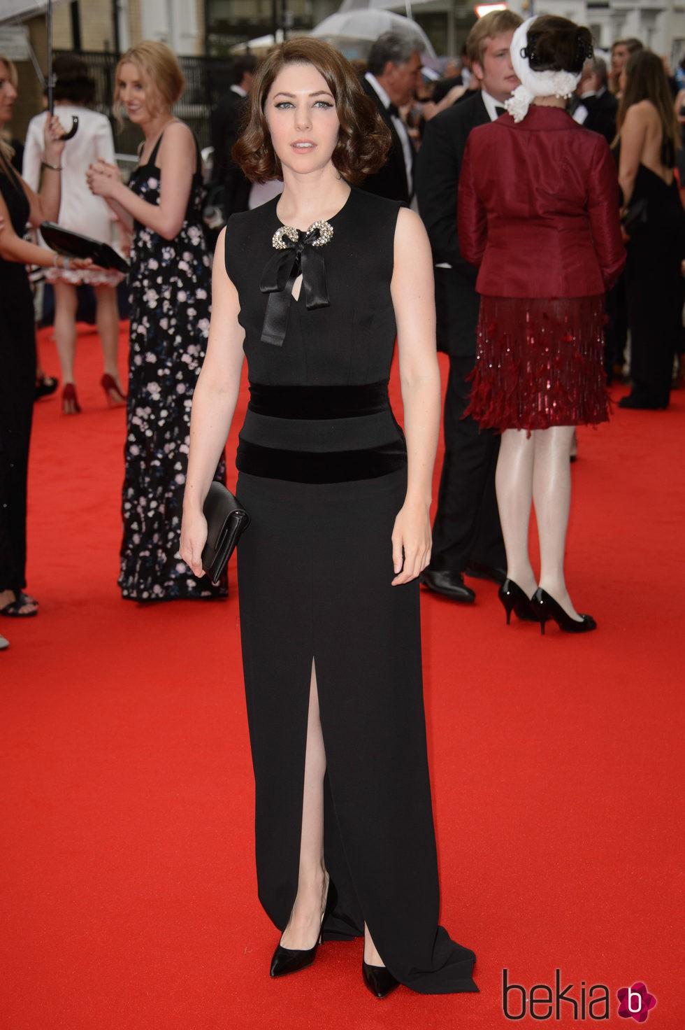 Catherine Steadman en un homenaje a 'Downton Abbey' en Londres