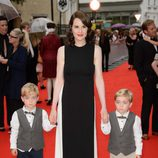 Michelle Dockery en un homenaje a 'Downton Abbey' en Londres