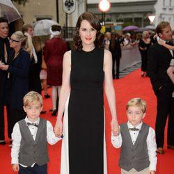 Michelle Dockery en un homenaje a 'Downton Abbey' en Londres