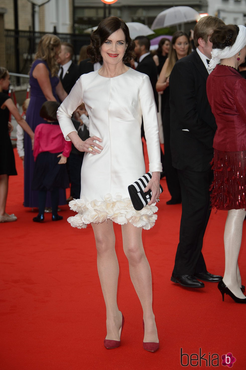Elizabeth McGovern en un homenaje a 'Downton Abbey' en Londres