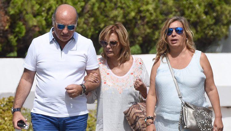 María Teresa Campos, Carmen Borrego y José Carlos Bernal en Marbella