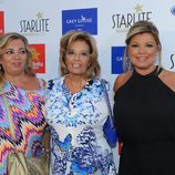 Carmen Borrego, María Teresa Campos y Terelu Campos en el concierto de Enrique Igieslas en Marbella