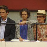 La Infanta Elena, Froilán y Victoria de Marichalar en una corrida de toros en San Sebastián