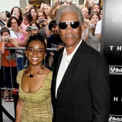 Morgan Freeman junto a su nieta E' Dena Hines