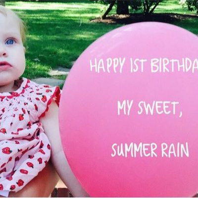 Christina Aguilera felicita a su hija Summer Rain