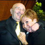 Lina Morgan y Tony Leblanc muy cariñosos en un acto público