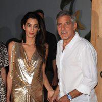 George Clooney presenta su marca de Tequila en Ibiza con su mujer Amal Alamuddin