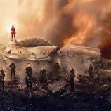 El elenco de 'LJDH' en un póster de 'Los Juegos del Hambre: Sinsajo Parte 2'