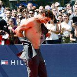 Rafa Nadal se queda sin ropa en un evento de Tommy Hilfiger en Nueva York