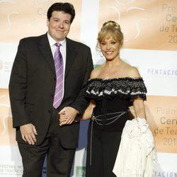 Silvia Tortosa y Carlos Cánovas en la entrega de los Premios Ceres 2015