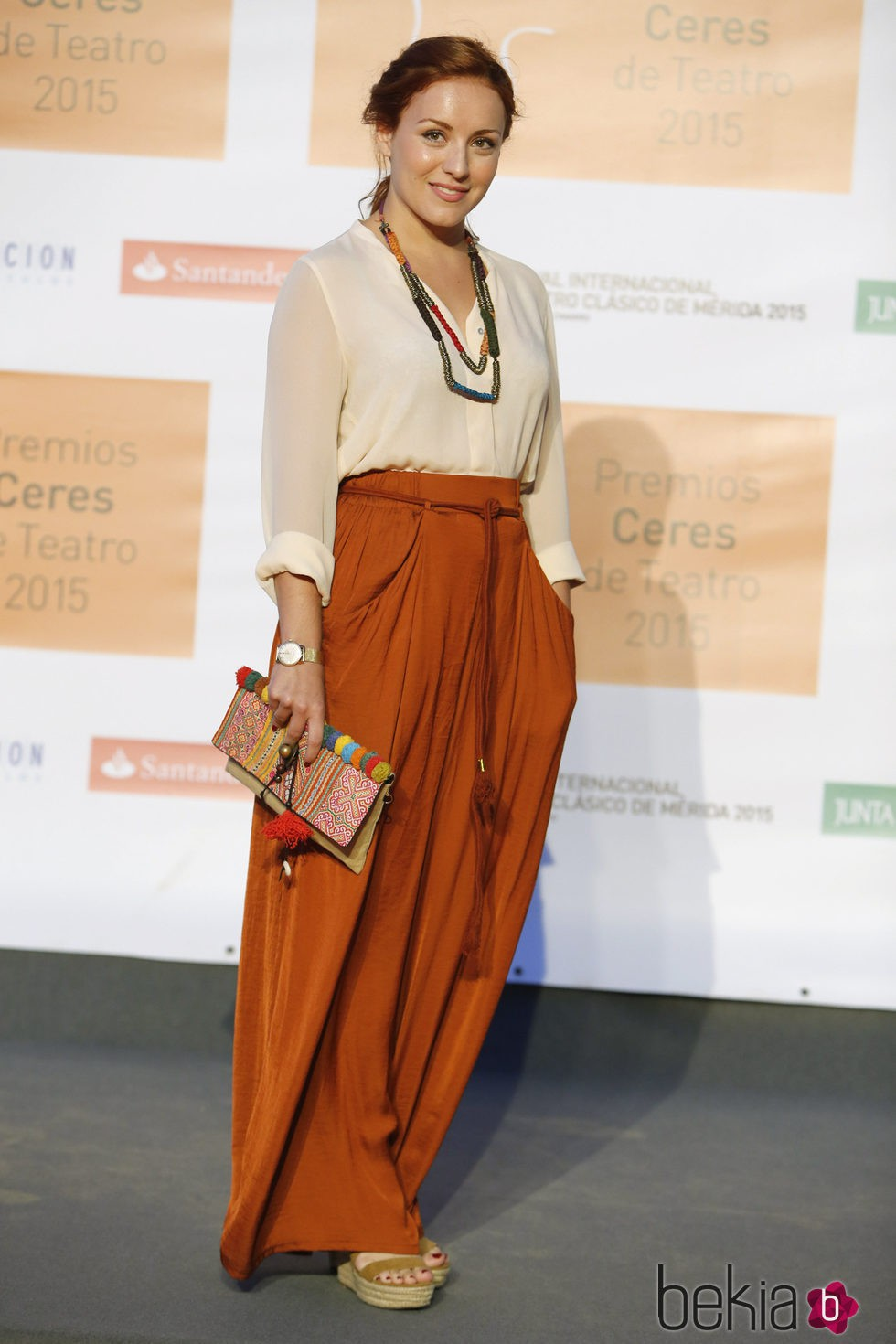 Claudia Molina en la entrega de los Premios Ceres 2015