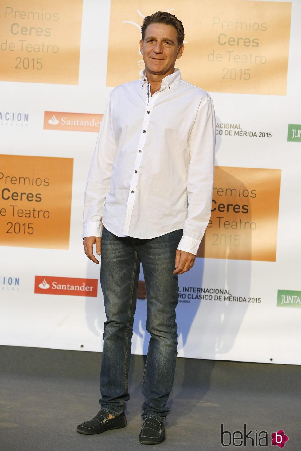Juanjo Artero en la entrega de los Premios Ceres 2015