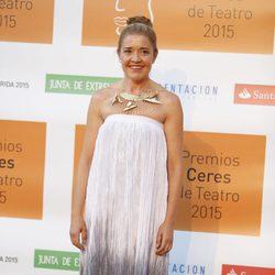 María Pujalte en la entrega de los Premios Ceres 2015