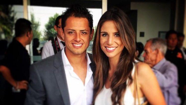 Javier 'Chicharito' Hernández y Lucía Villalón