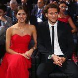 Diego Forlán y Paz Cardoso en una gala de la FIFA