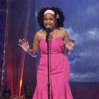 Jennifer Hudson actuando en 'American Idol 3'