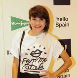Angy Fernández en la inauguración de un espacio de la firma GAP