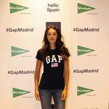 Ana Rujas en la inauguración de un espacio de la firma GAP