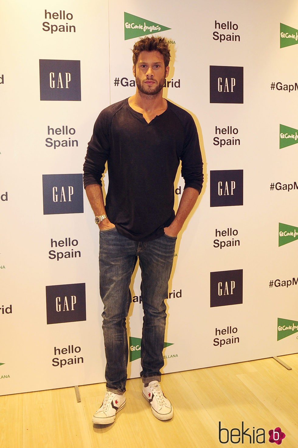 José Lamuño en la inauguración de un espacio de la firma GAP