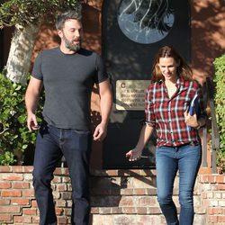 Ben Affleck y Jennifer Garner, muy cómplices y sonrientes tras asistir a terapia