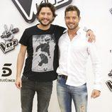 Manuel Carrasco y David Bisbal en la presentación de la 'La Voz Kids 2'