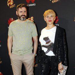 Antonia San Juan y Luis Miguel Seguí en una presentación de moda en Madrid