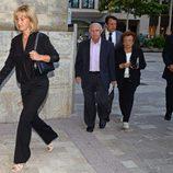 Miguel Ángel y Sebastián Nadal y Ana Maria Parera en el funeral de Rafael Nadal