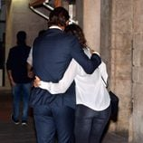 Rafa Nadal y Xisca Perelló abrazados en el funeral de Rafael Nadal