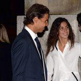 Rafa Nadal y Xisca Perelló en el funeral de Rafael Nadal