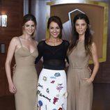 Manuela Velasco, Paula Echevarría y Juana Acosta en la presentación de la tercera temporada de 'Velvet'