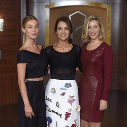 Charlotte Vega, Paula Echevarría y Cecilia Freire en la presentación de la tercera temporada de 'Velvet'
