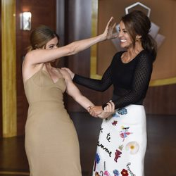 Paula Echevarría y Manuela Velasco en la presentación de la tercera temporada de 'Velvet'