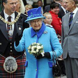 La Reina Isabel II en el día en el que logró el reinado más largo de la historia de Reino Unido