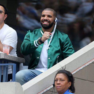 El rapero Drake celebrando un punto de Serena Williams
