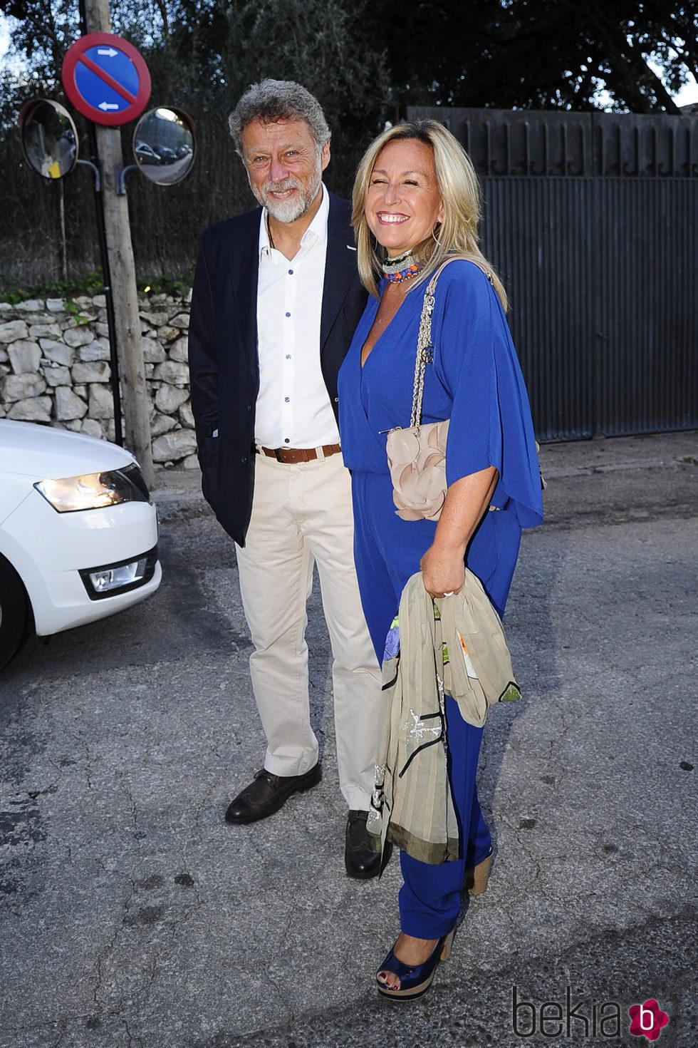 Trinidad Jiménez y Miguel Ángel De la Fuente en la fiesta del 50 cumpleaños de Jesús Vázquez