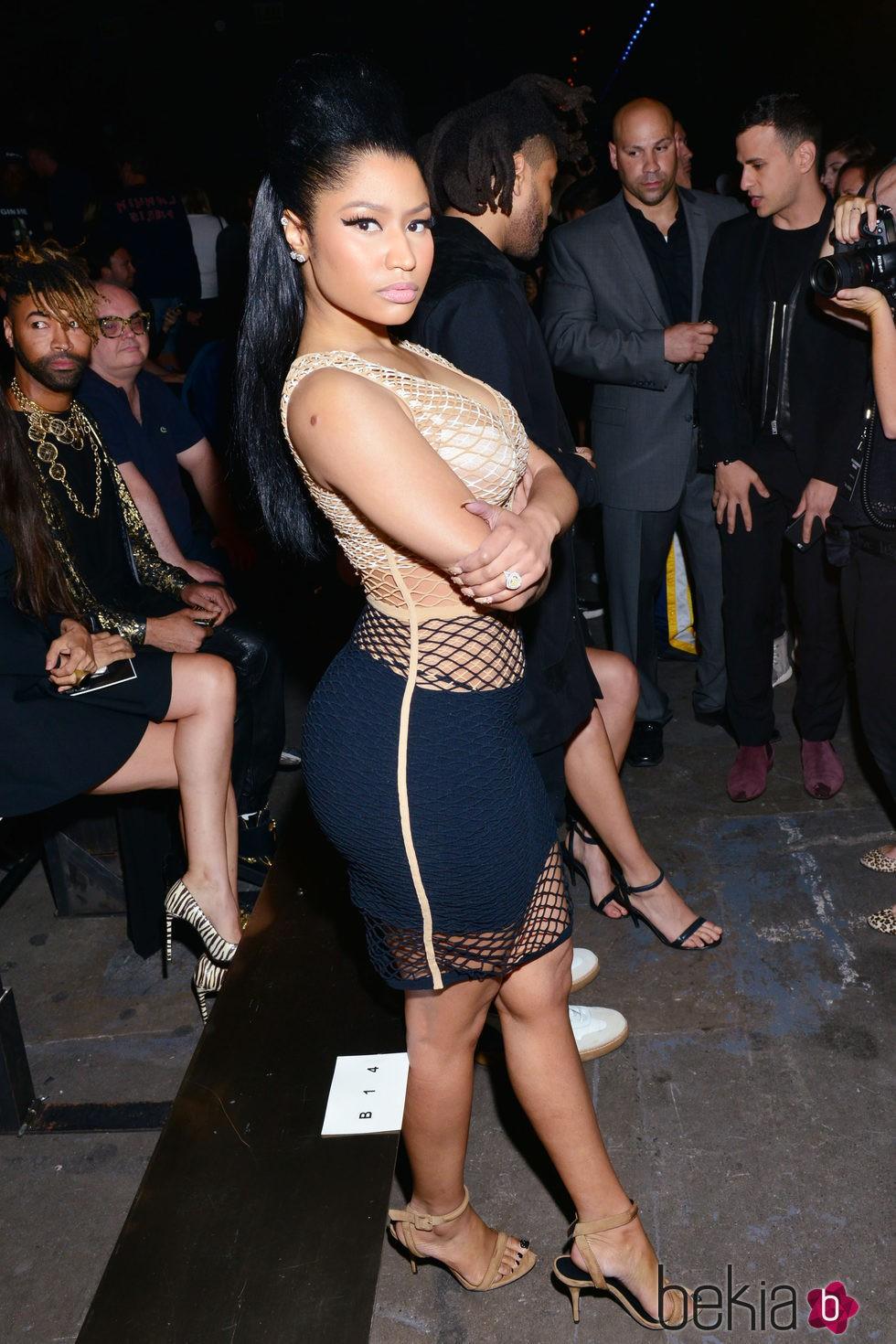Nicki Minaj en el front row de la Nueva York Fashion Week primavera/verano 2016