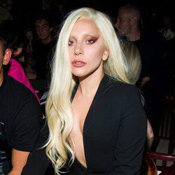 Lady Gaga en el front row de la Nueva York Fashion Week primavera/verano 2016