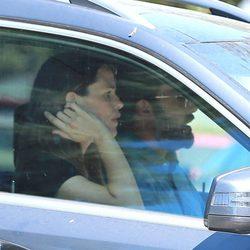 Ben Affleck y Jennifer Garner juntos en el coche tras una salida en familia