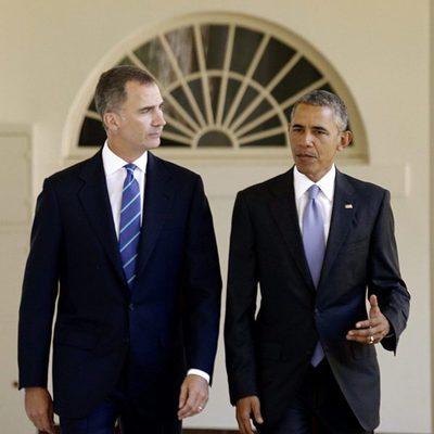 El Rey Felipe y Barack Obama en la Casa Blanca