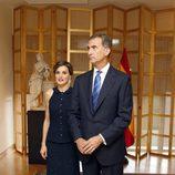 Los Reyes Felipe y Letizia en la embajada de España en Washington