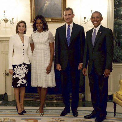 Los Reyes Felipe y Letizia con Barack y Michelle Obama en la Casa Blanca