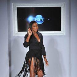 Serena Williams en la presentación de su colección de moda en la Nueva York Fashion Week